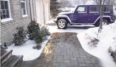 Snow Melting On Walkway 1